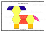 Cut and Paste Shapes Craft - Dog Puzzle