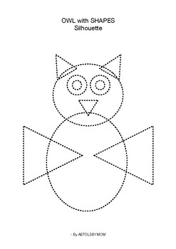 Cut and Paste Shapes - Owl Puzzle