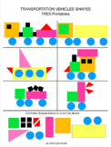 Cut and Paste Shapes- Vehicles Puzzles