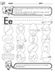 Cut and Paste Short E Worksheet with Instructions translated into Spanish
