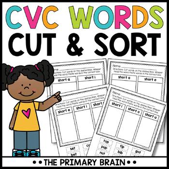 Cut and Paste Short Vowel CVC Word Sort