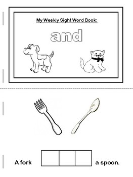 Cut and Paste- Sight Word Emergent Reader Sample