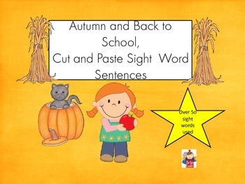 Sight Word Sentence Scramble-  Fall and Back to School