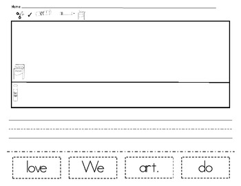 Cut and Paste Sight Word Sentences  *PDF VERSION *