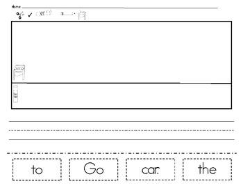 Cut and Paste Sight Word Sentences  *PDF VERSION *
