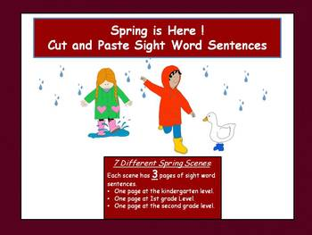 Sight Words - Spring!