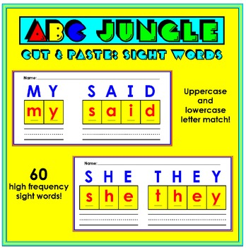 Cut and Paste Sight Words