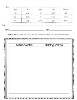 Cut and Paste Sorting Worksheets