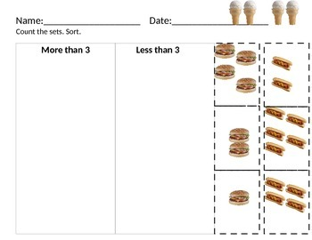 Cut and Paste Summer Math