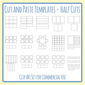 Cut and Paste Templates with Less Pasting Than There Are Spots Clip Art Set`