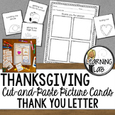 Thanksgiving - Cut and Paste Thank You Letter Picture Cards