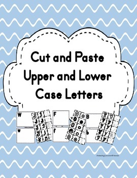 Cut and Paste Upper and Lower Case Letters