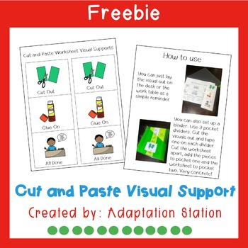 Cut and Paste Visual Support Freebie