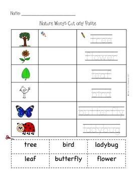 Cut and Paste Vocabulary for English Learners (EL/ESL/EFL)