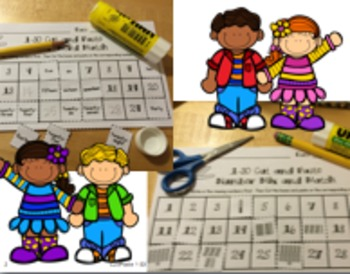 Cut and Paste Ways to Make Numbers Mix & Match 1-30...1-120 Charts