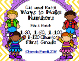 Cut and Paste Ways to Make Numbers Mix & Match 1-30... 1-120 Charts First Grade