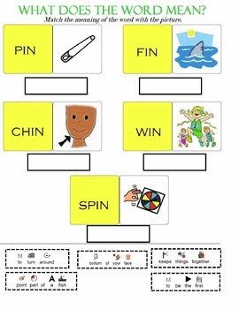 Cut and Paste Word Family Vocabulary and Definition Workbook (Speech)