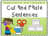 Reading Street Cut and Paste Word Sentences