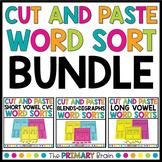 Cut and Paste Word Sort Bundle - CVC Words, Long Vowels, B