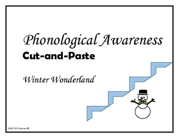 WINTER - Cut-and-Paste Words, Syllables, & Sounds - Phonological Awareness