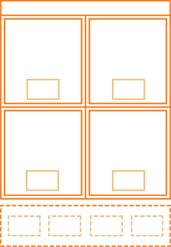 Cut and Paste Worksheet Template Clipart Images for TPT Sellers 8 Colors