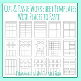 Cut and Paste Worksheet Templates - Spots to Paste Clip Ar