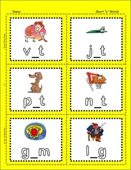 "Short Vowels - Sentences with Short ""e"" Words"