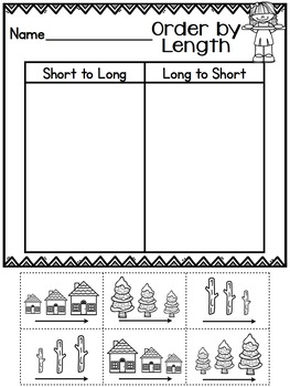 Cut and Paste Worksheets for First Grade ( Measurement )
