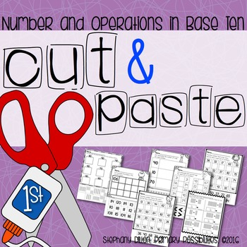 Cut and Paste Worksheets for First Grade ( NBT )