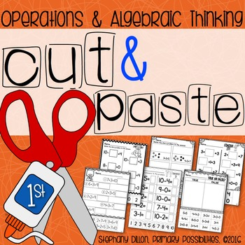 Cut and Paste Worksheets for First Grade ( OA )