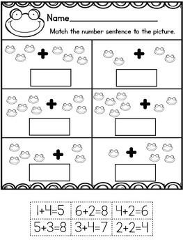 Cut and Paste Worksheets for Kindergarten ( OA )