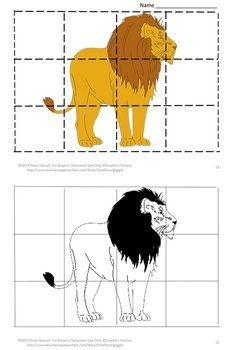 Zoo  Cut and Paste Puzzles for Centers or Stations Craftivity