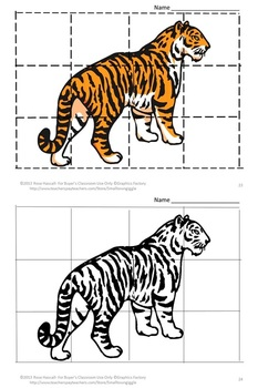 Zoo Animals Cut and Paste Puzzles Fine Motor Special Education Autism P-K, K