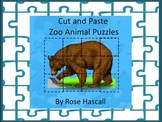 Zoo Animals Activities, Printable Cut and Paste Puzzles, Matching Pictures