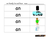 Cut and Paste - an word family Beginning Sounds