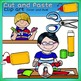 Cut and Paste clip art -Color and B&W-