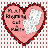 Cut and Paste freebie worksheets for rhyming