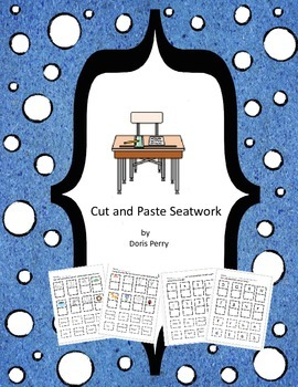Cut and Paste seatwork for reading and math