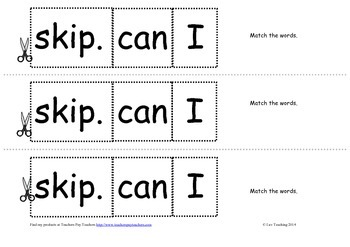 """Cut and Paste sentence independent reading groups activity """"I can..."""""""