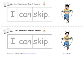 Cut and Paste sentence independent reading groups activity