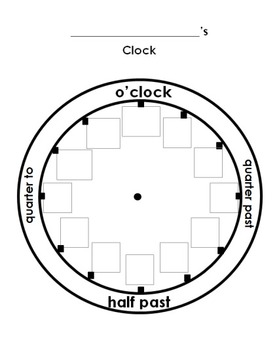 Cut and Paste the Numbers on the Clock Worksheet