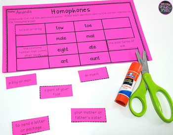 2nd Grade Language Arts Worksheets - Cut and Paste ...