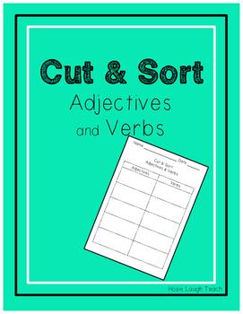 Cut & Sort Adjectives & Verbs