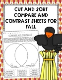 Cut and Sort Compare and Contrast Sheets for Fall
