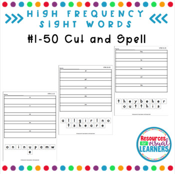 Cut and Spell 1-50