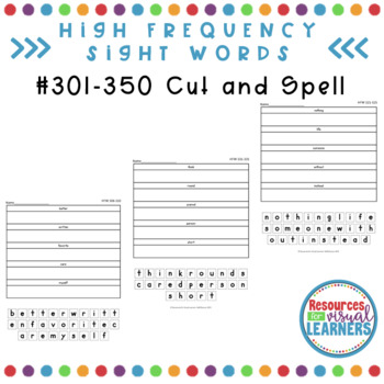 Cut and Spell 301-350