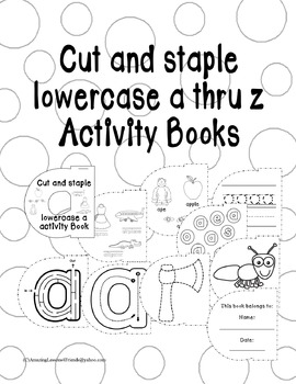 Cut and Staple Lowercase a Activity Book