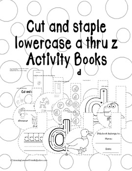 Cut and Staple Lowercase d Activity Book