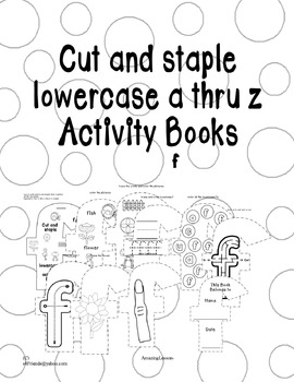 Cut and Staple Lowercase f Activity Book