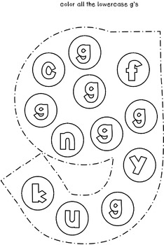 Cut and Staple Lowercase g Activity Book